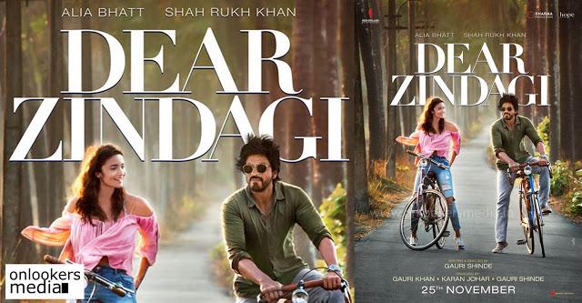 Dear Zindagi poster alia bhatt shahrukh khan